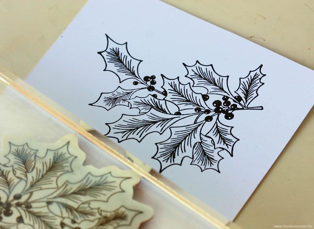 Christmas Easel Card - Step 1 Stamp
