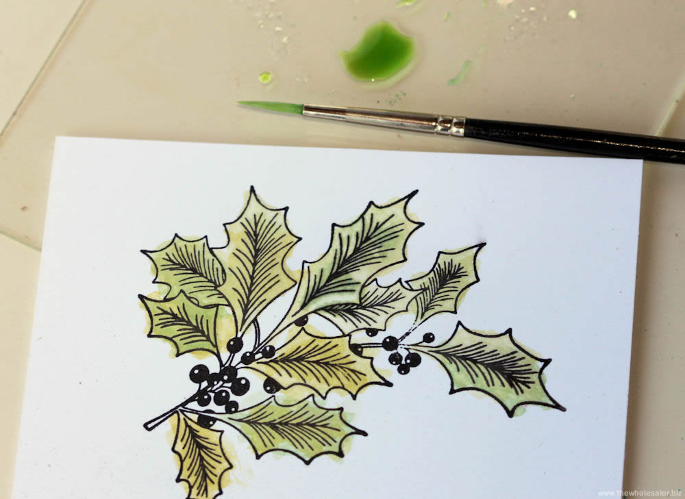 Christmas Easel Card - Step 4 Colour In