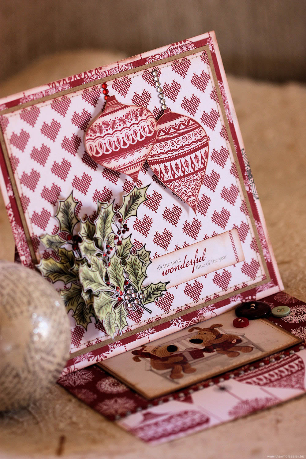 docrafts Christmas Easel Card Front View