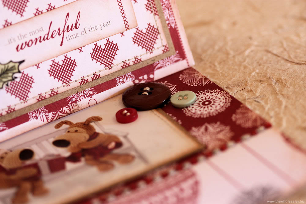 docrafts Christmas Easel Card Inside