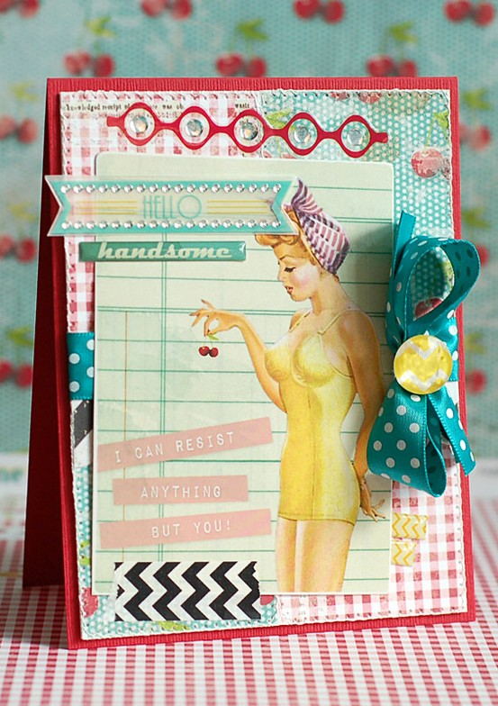 Glitz - Cashmere Dame Card