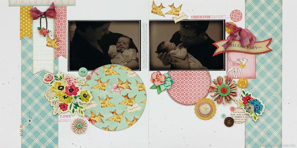 Little Bo Peep - Welcome Baby Layout