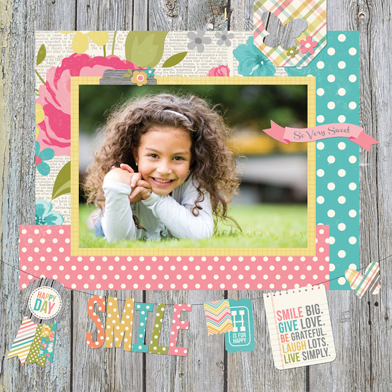 Simple Stories - Vintage Bliss Layout