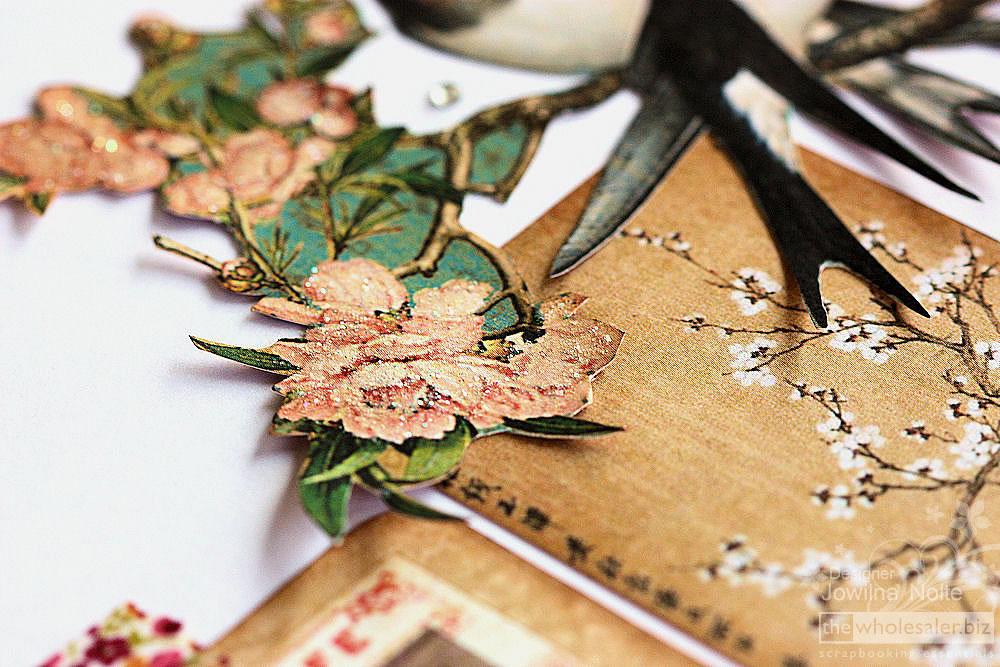 Birdsong - Layout Glitter Detail