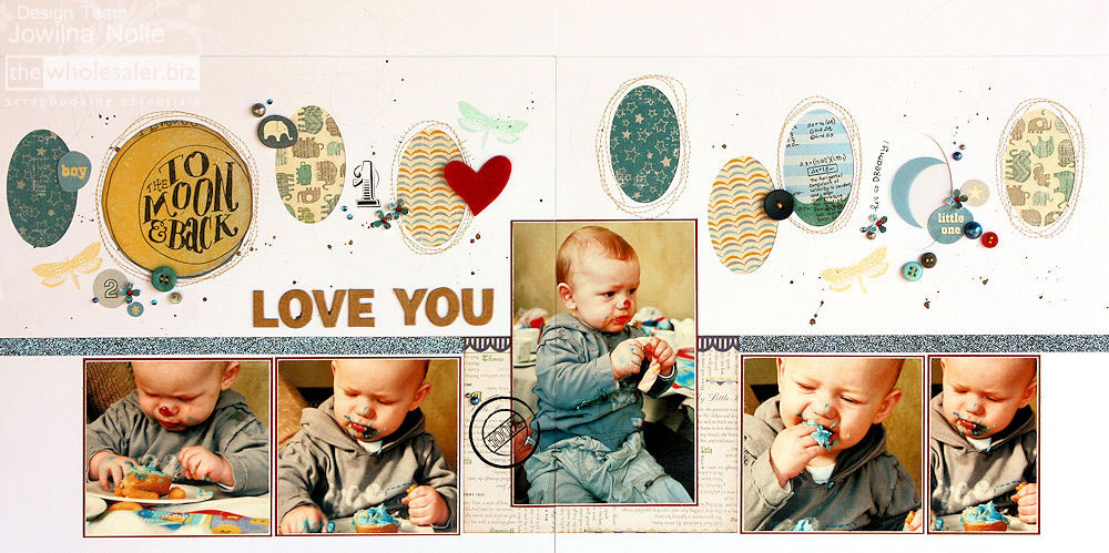 Baby Scrapbooking Page - Love You Layout