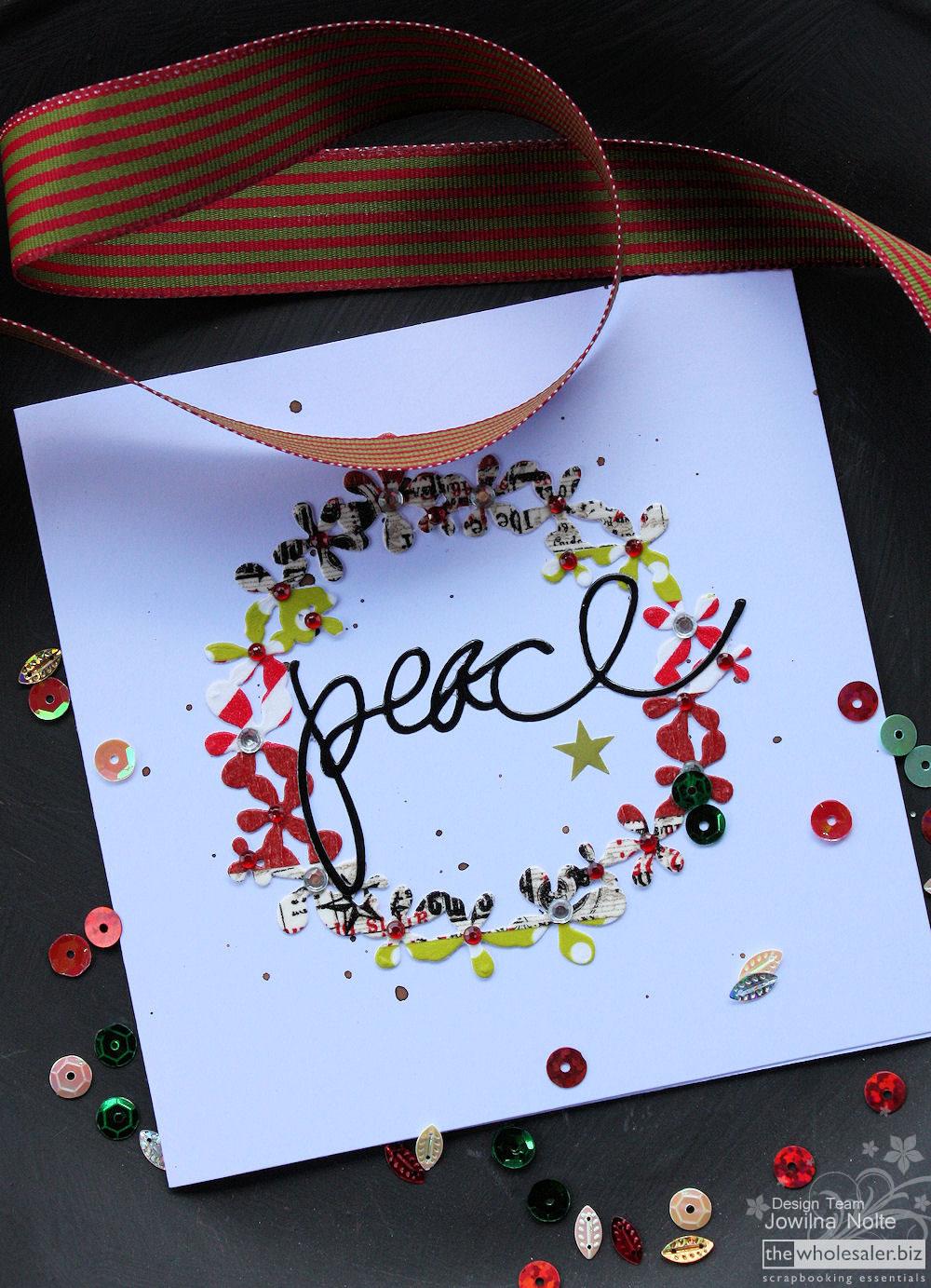 Cuttlebug Christmas Card Idea Bargello Wreath