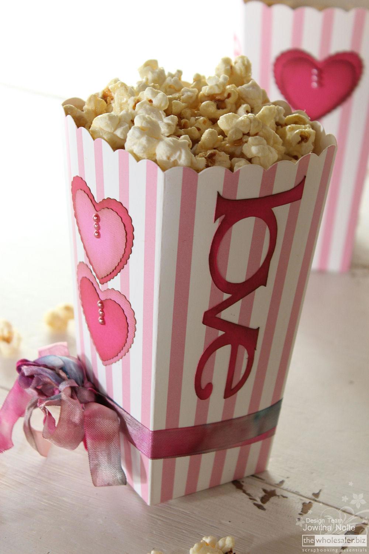 Cricut Craft Room Basics Valentine Popcorn Love Box