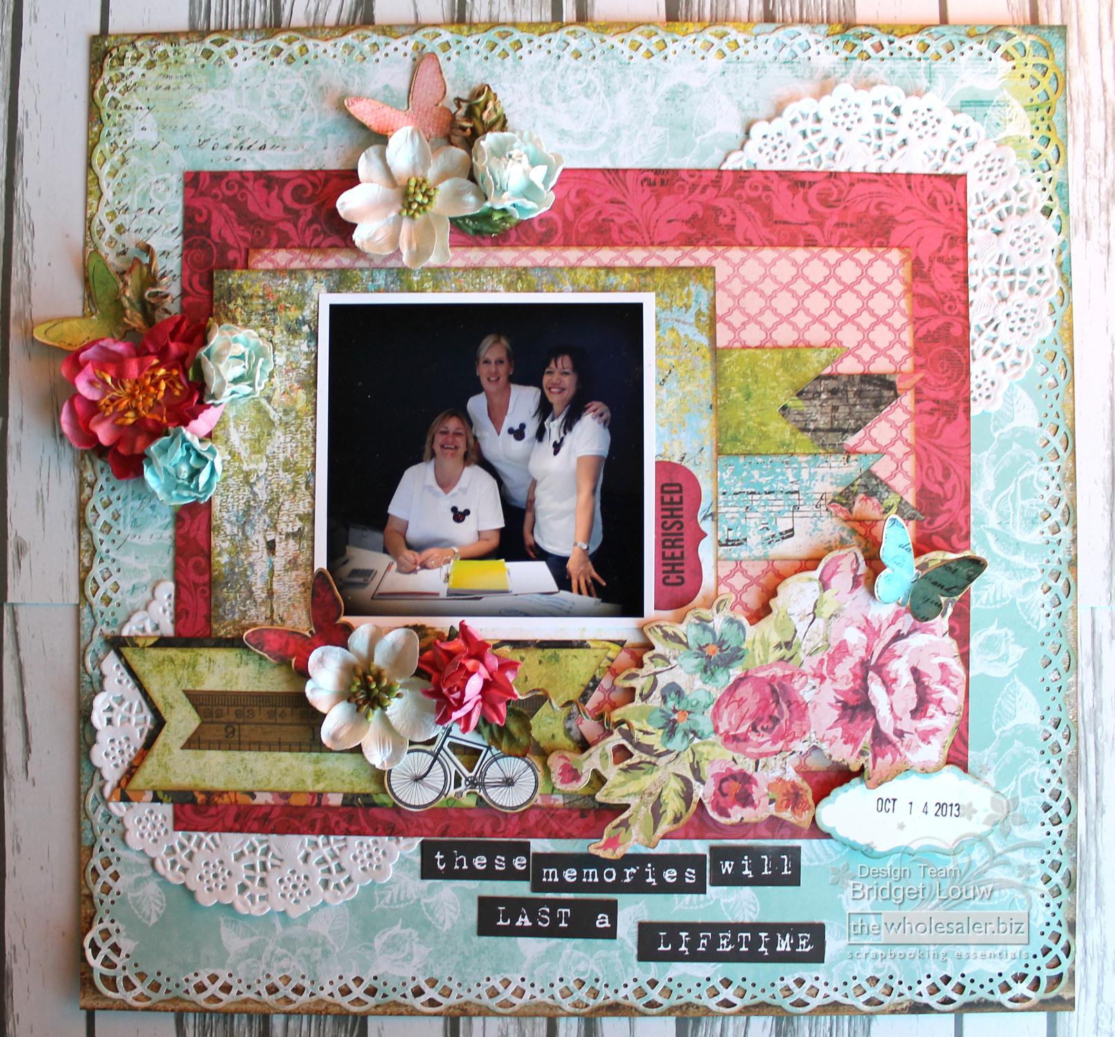 How to scrapbook memories - These Kaleidoscope Memories Layout