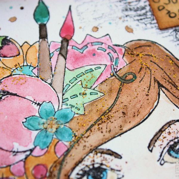 Prima Stamping Tutorial Stamping Painted
