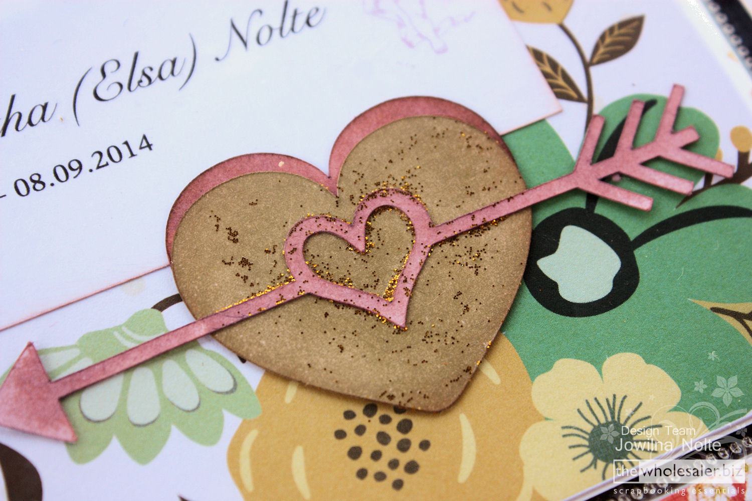 Silhouette CAMEO and Project Life - Layered Hearts