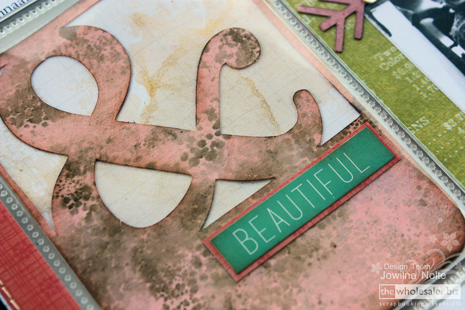 Silhouette CAMEO and Project Life - beautiful pocket card