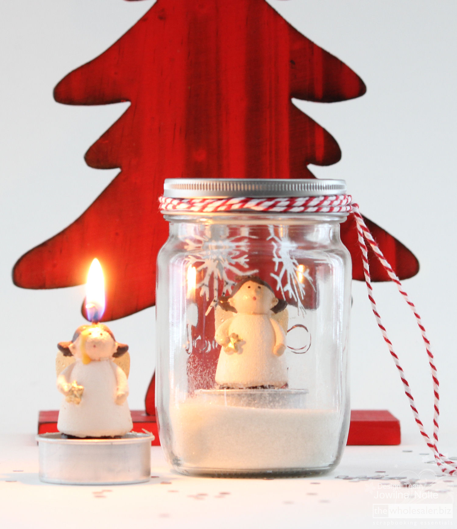 Mason Jar Snow Globe Tutorial - Angel