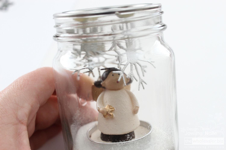 Mason Jar Snow Globe Tutorial - Angel Inside
