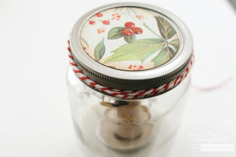 Mason Jar Snow Globe Tutorial - Lid Detail