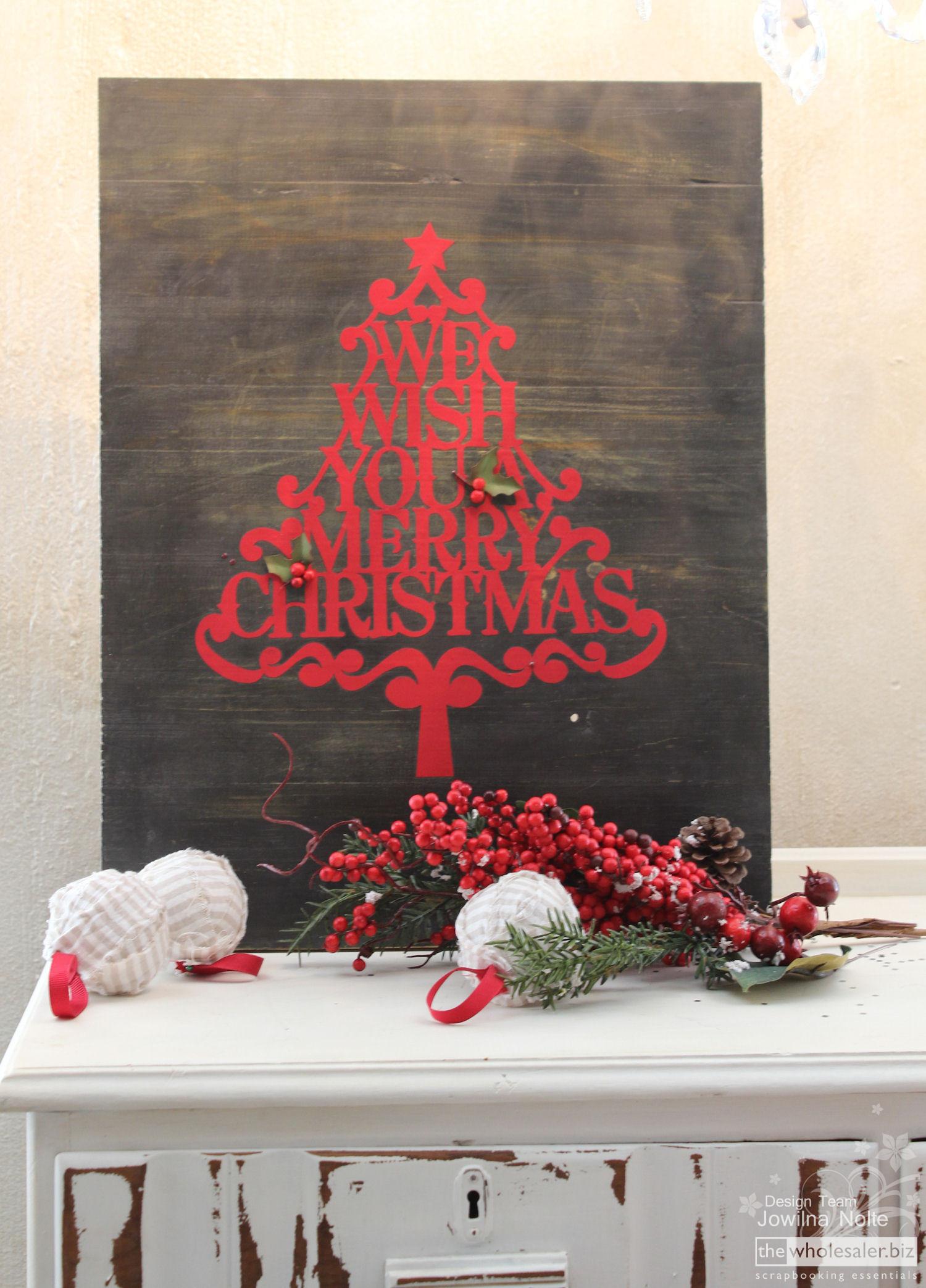 Silhouette Cameo Vinyl Cut Christmas Plaque