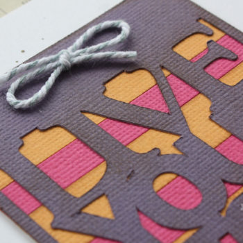 AC Cardstock Handmade Card - Colour Detail