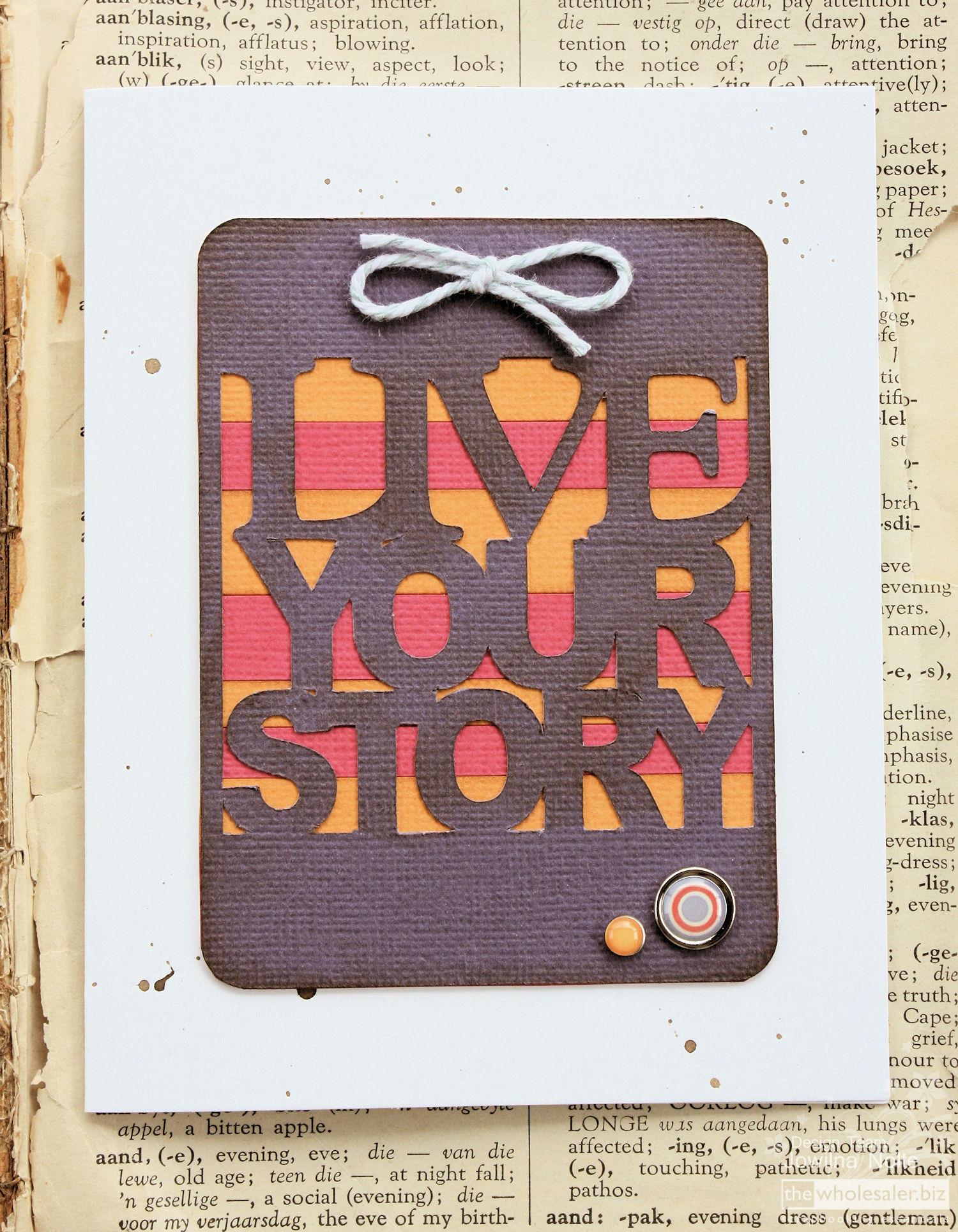 AC Cardstock Handmade Card - Love-Your-Story