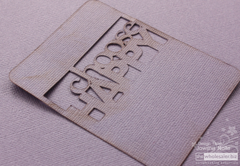 AC Cardstock Handmade Card - Step 1