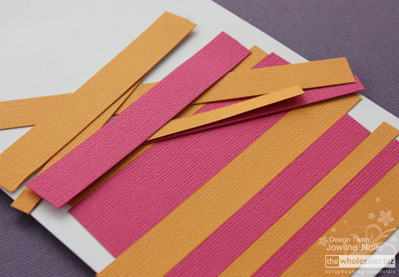 AC Cardstock Handmade Card - Step 2