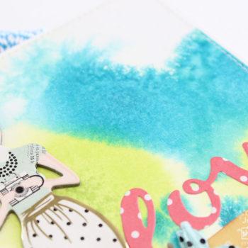 Ink Marbling Technique - Card Love Embellishment