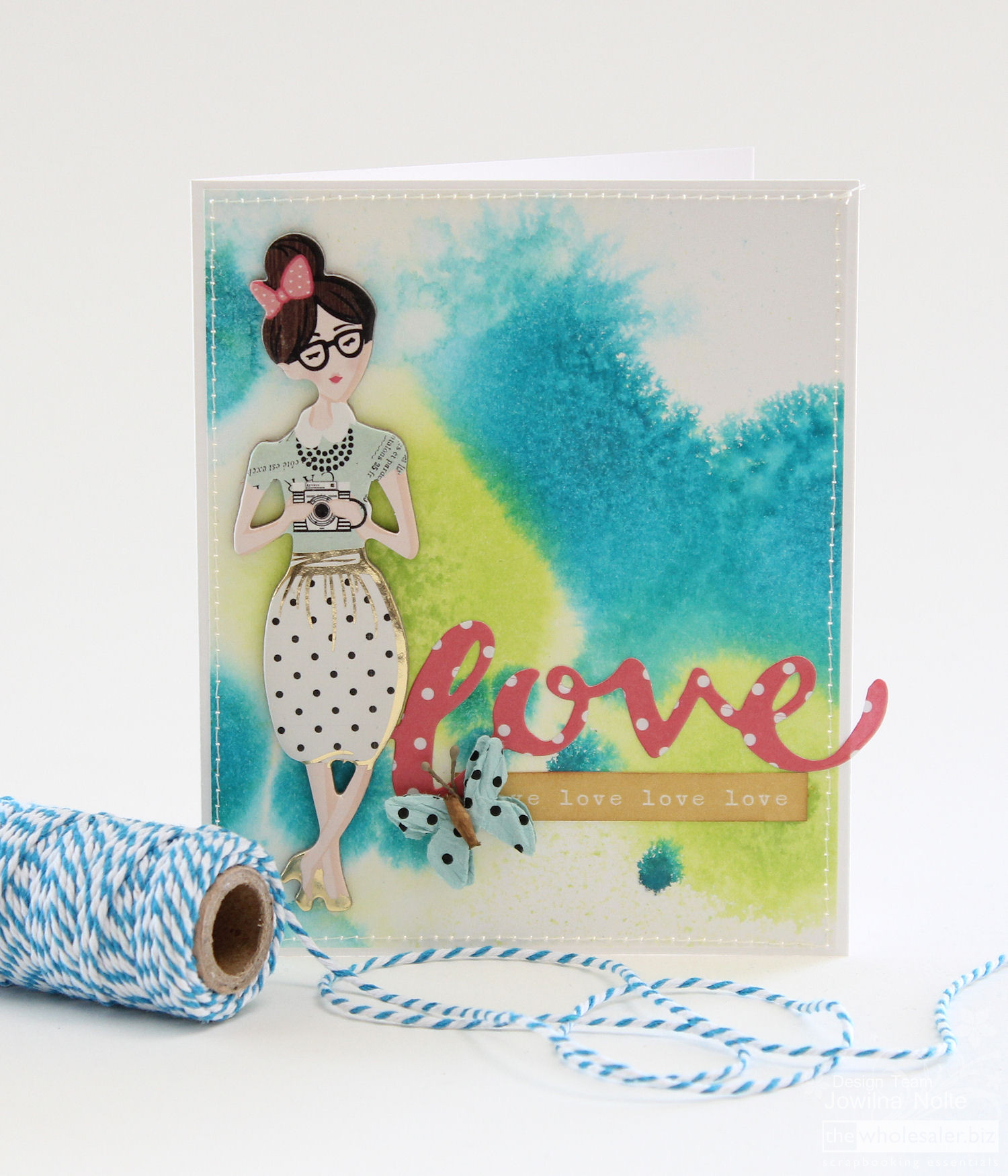 Ink Marbling Technique - Love Card