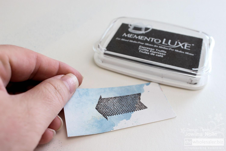 Memento LUXE Ink Technique - Step 4