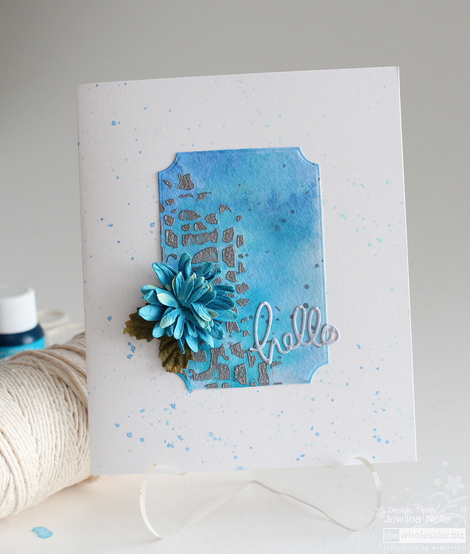 Mixed Media Card Tutorial - Hello Card