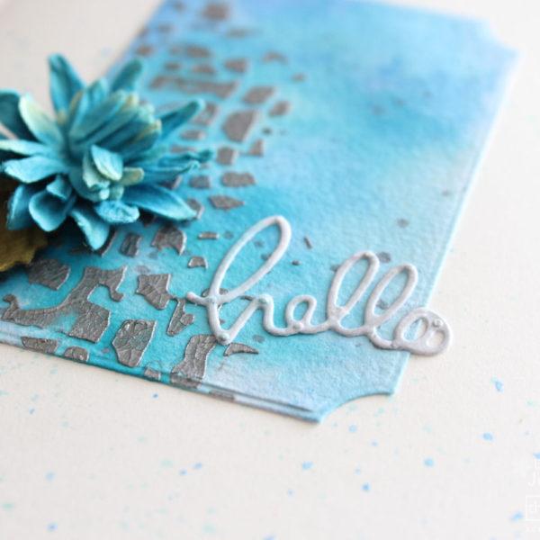 Mixed Media Card Tutorial - Ink Detail