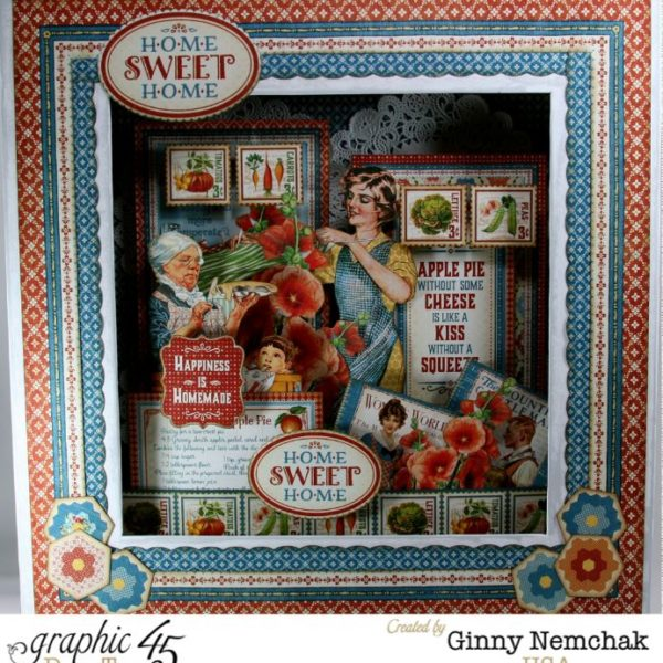 Graphic 45 Home Sweet Home Matchbook box