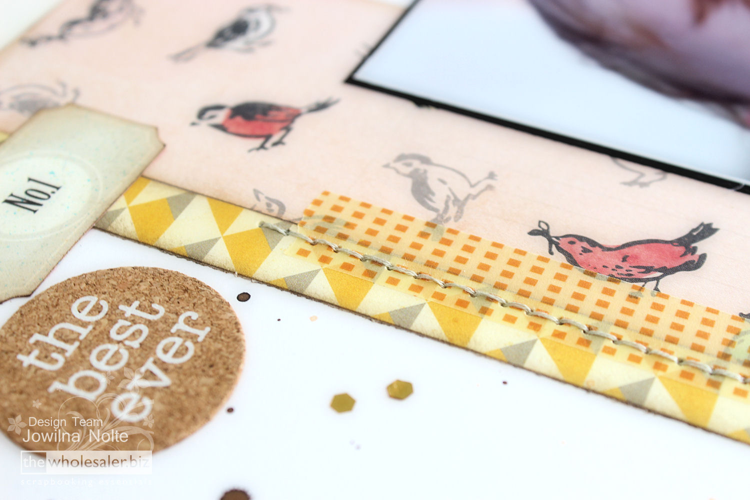 Using Dies As Accents - Washi Tape Detail