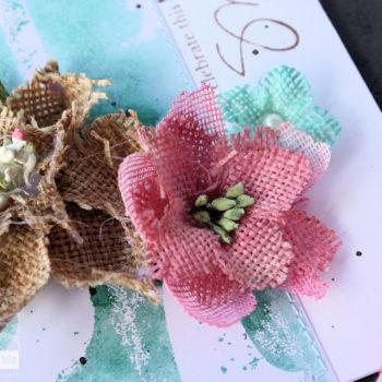 Colour Your Burlap Flowers - Detail