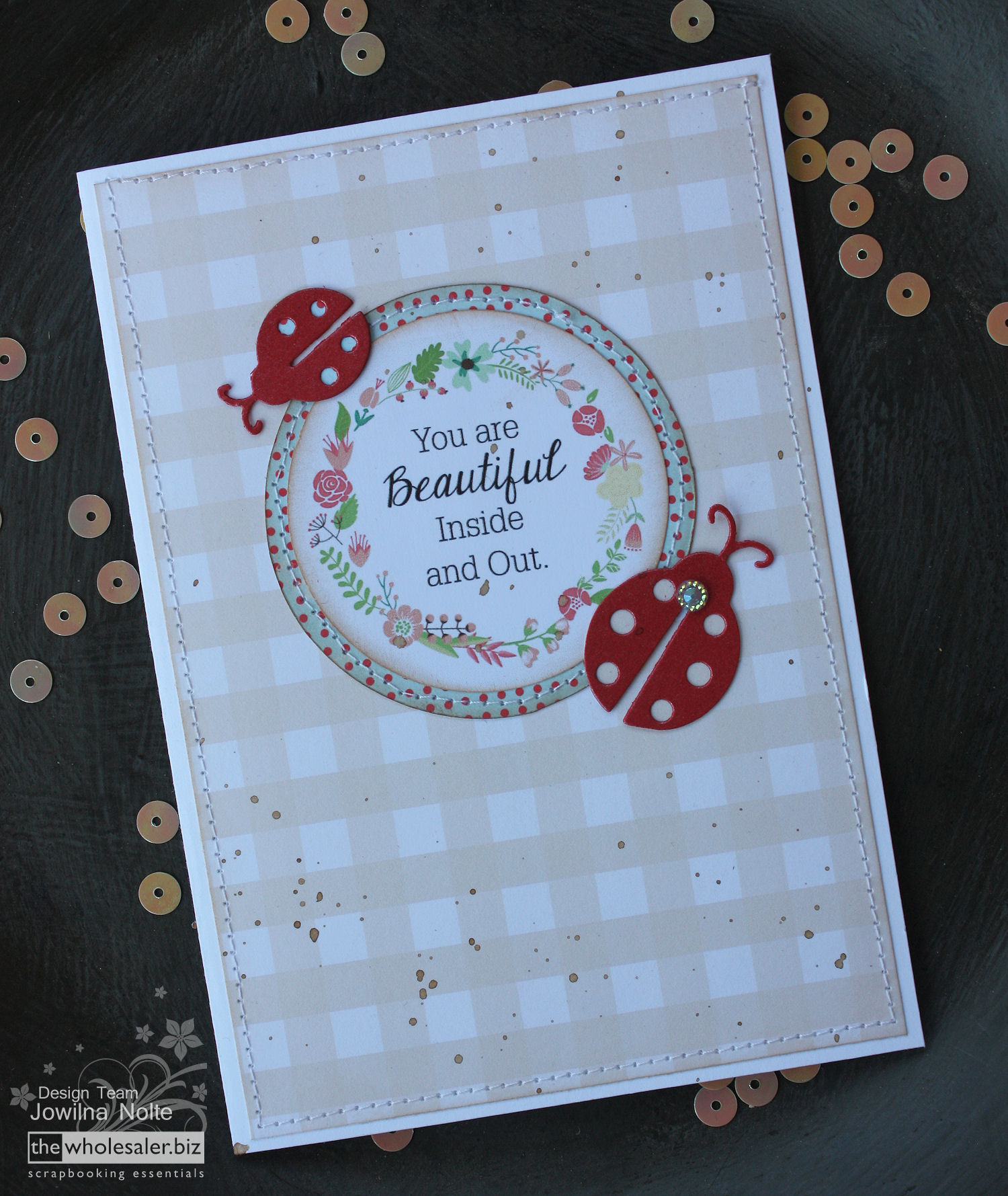 Couture Creations Everyday Essentials - Ladybug Card