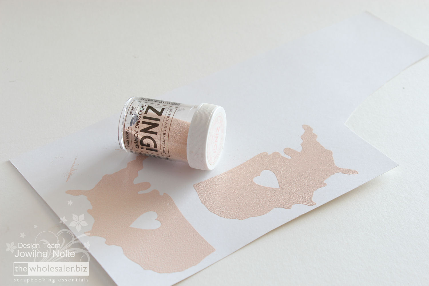 Silhouette Stamp Material - Stamping Step 2
