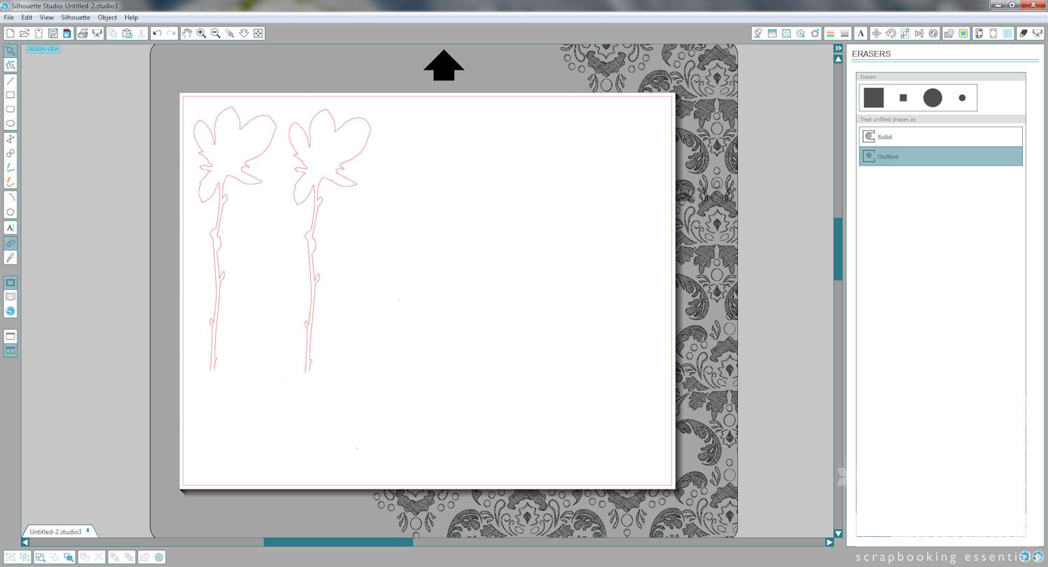 Silhouette Stamp Material - Step 10