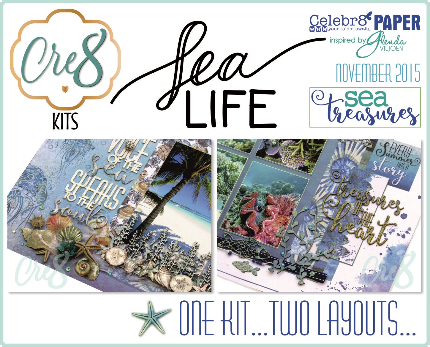 Celebr8 - Sea Treasures - Kit