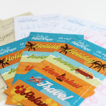 Lady Pattern Paper - Oh my word! - Mini Sticker Sheets