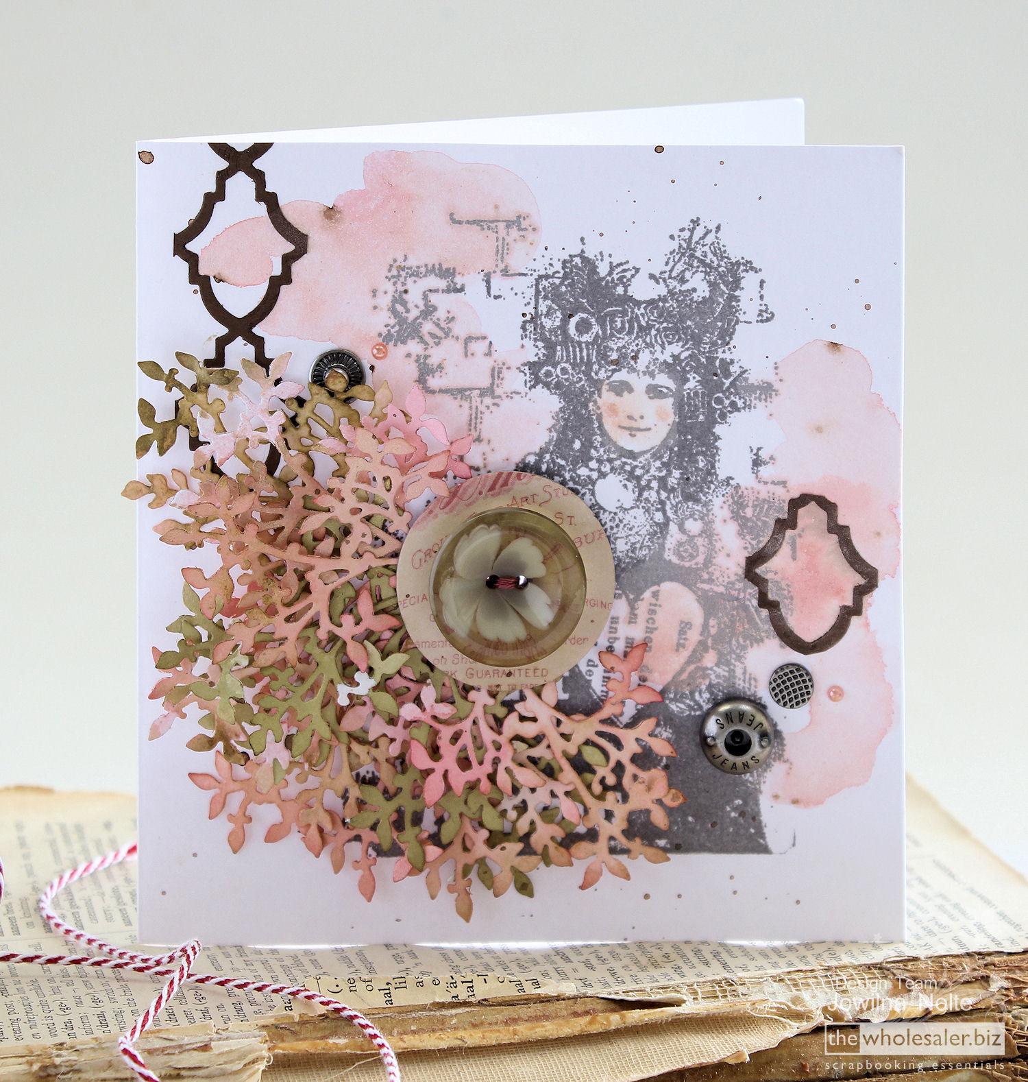 Couture Creations Clustered Die Cut Card