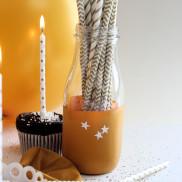 DIY Birthday - Golden Straws