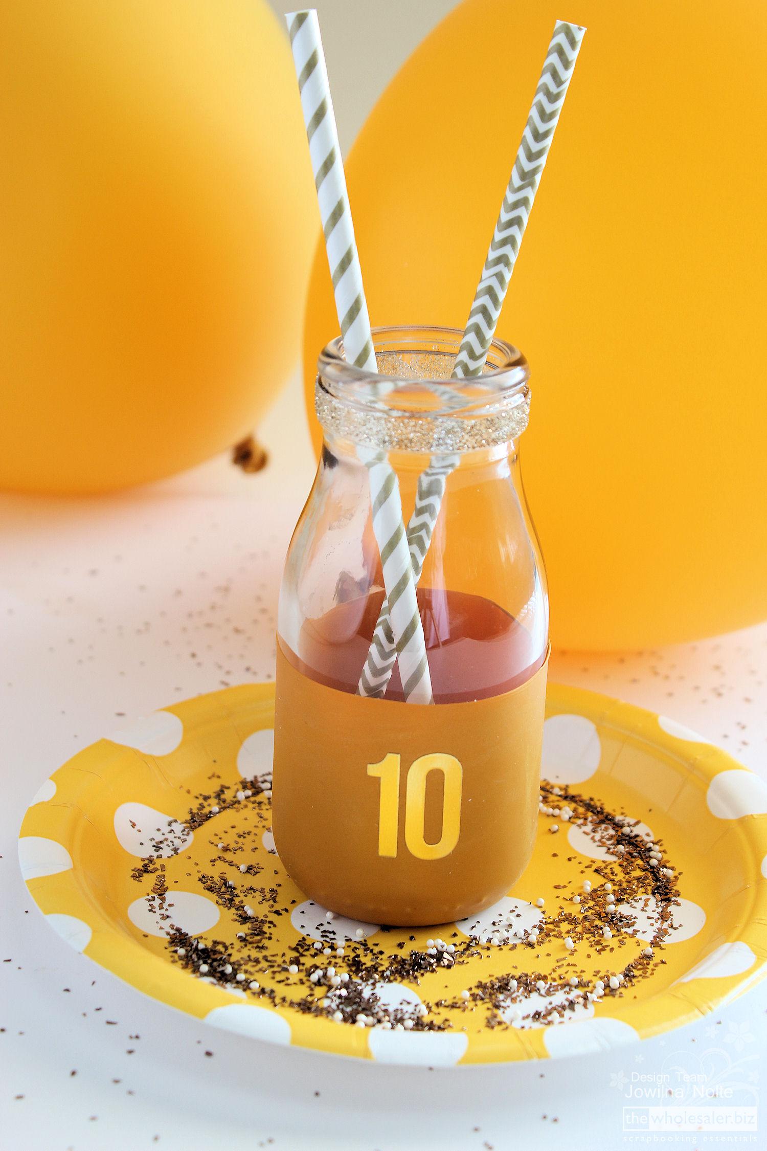 Golden Birthday Celebrations - DIY Bottle Idea