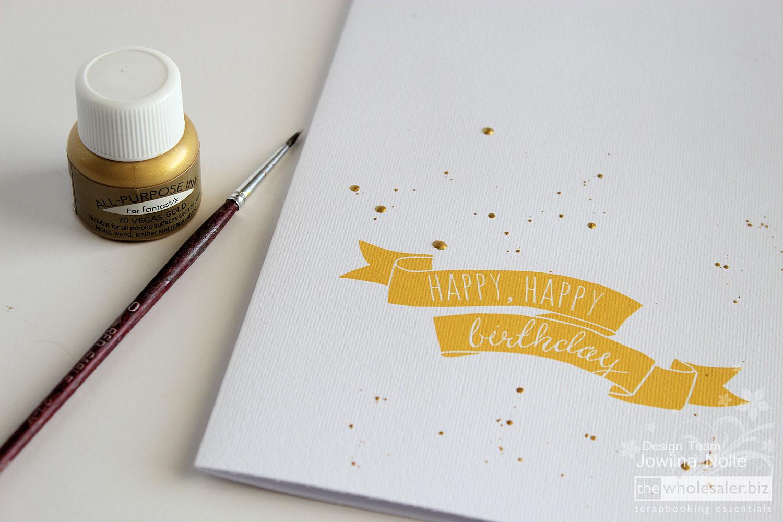 Golden Birthday Celebrations - Step 1