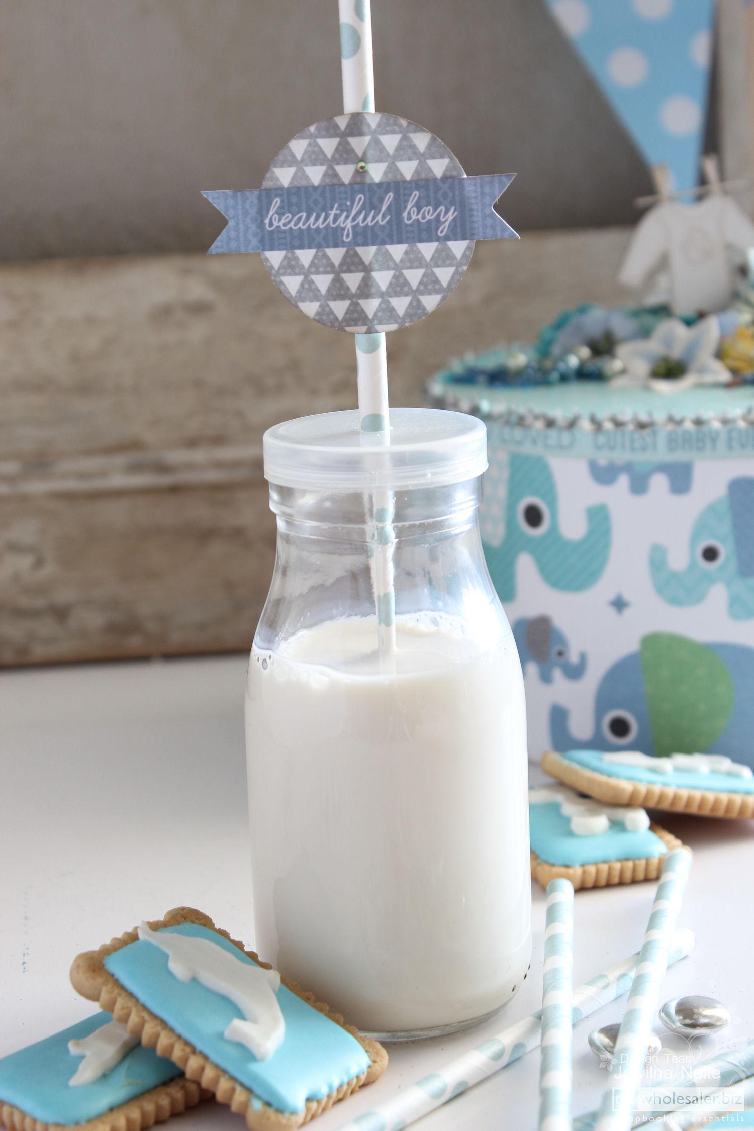 DIY Baby Boy Shower A Celebration - Milkbottle Tag