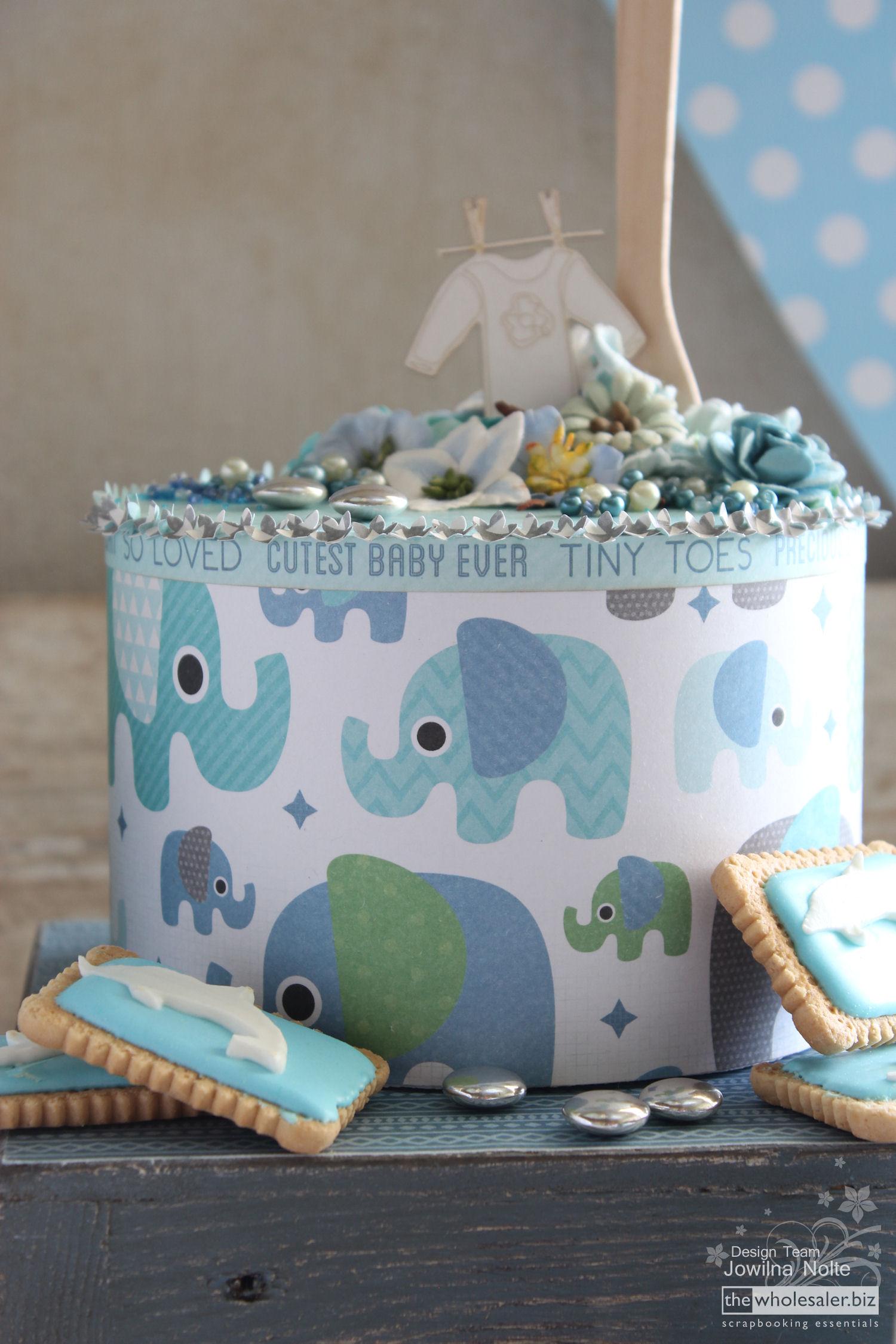 DIY Baby Boy Shower - cake 2