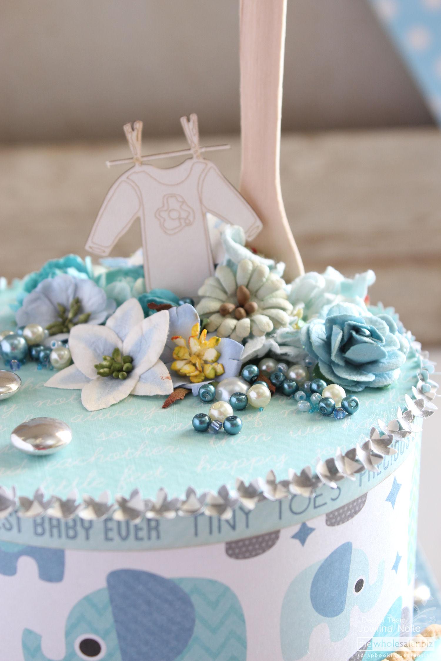 DIY Baby Boy Shower - cake 4