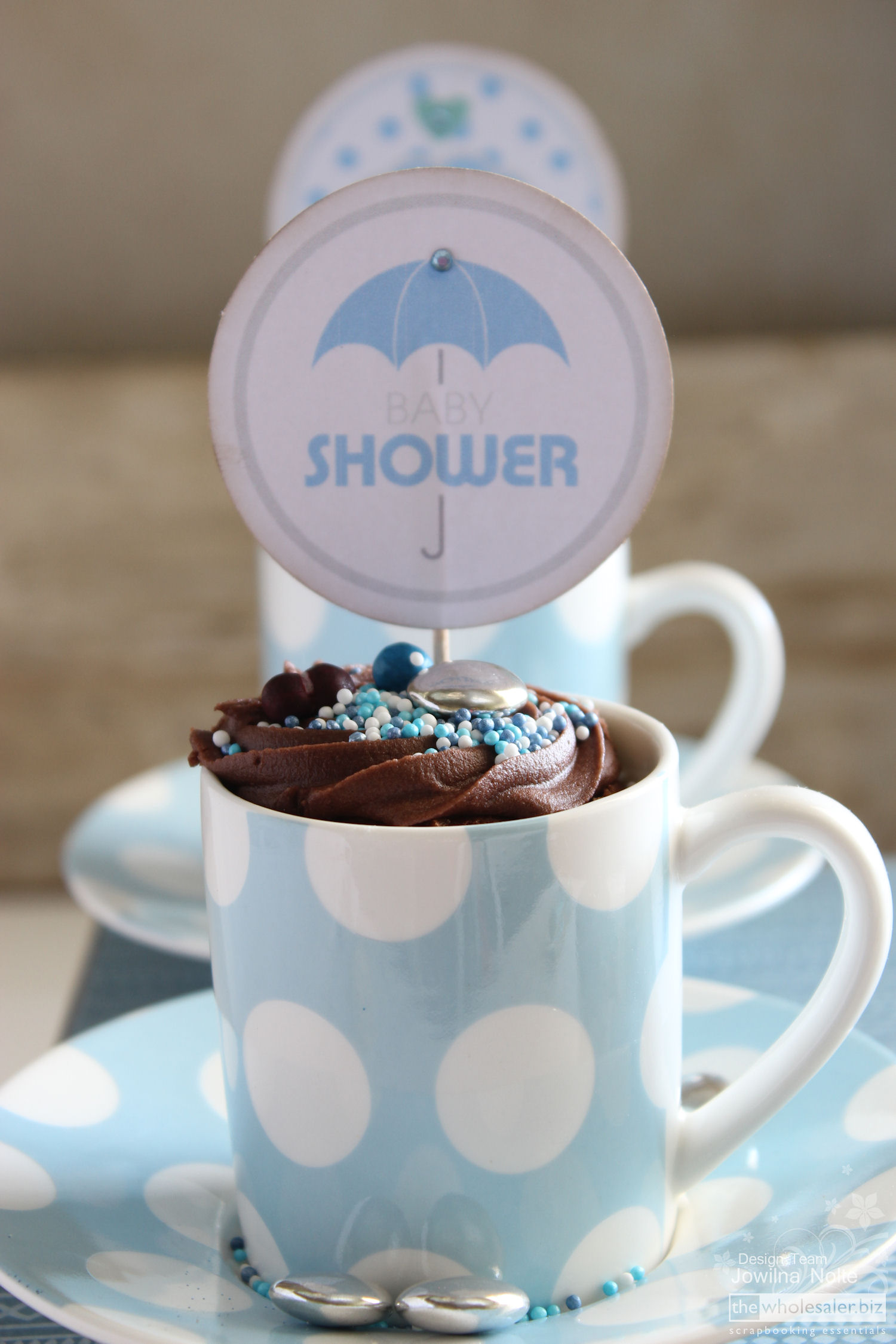 DIY Baby Boy Shower - cupcake toppers 2