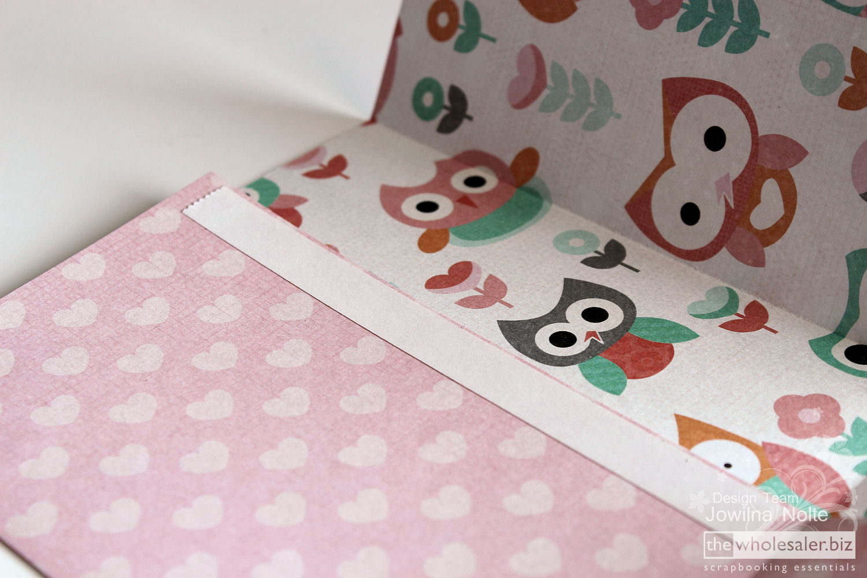 Scrapbook ideas step by step - Diy Baby Shower Ideas Handmade Giftbag Step2