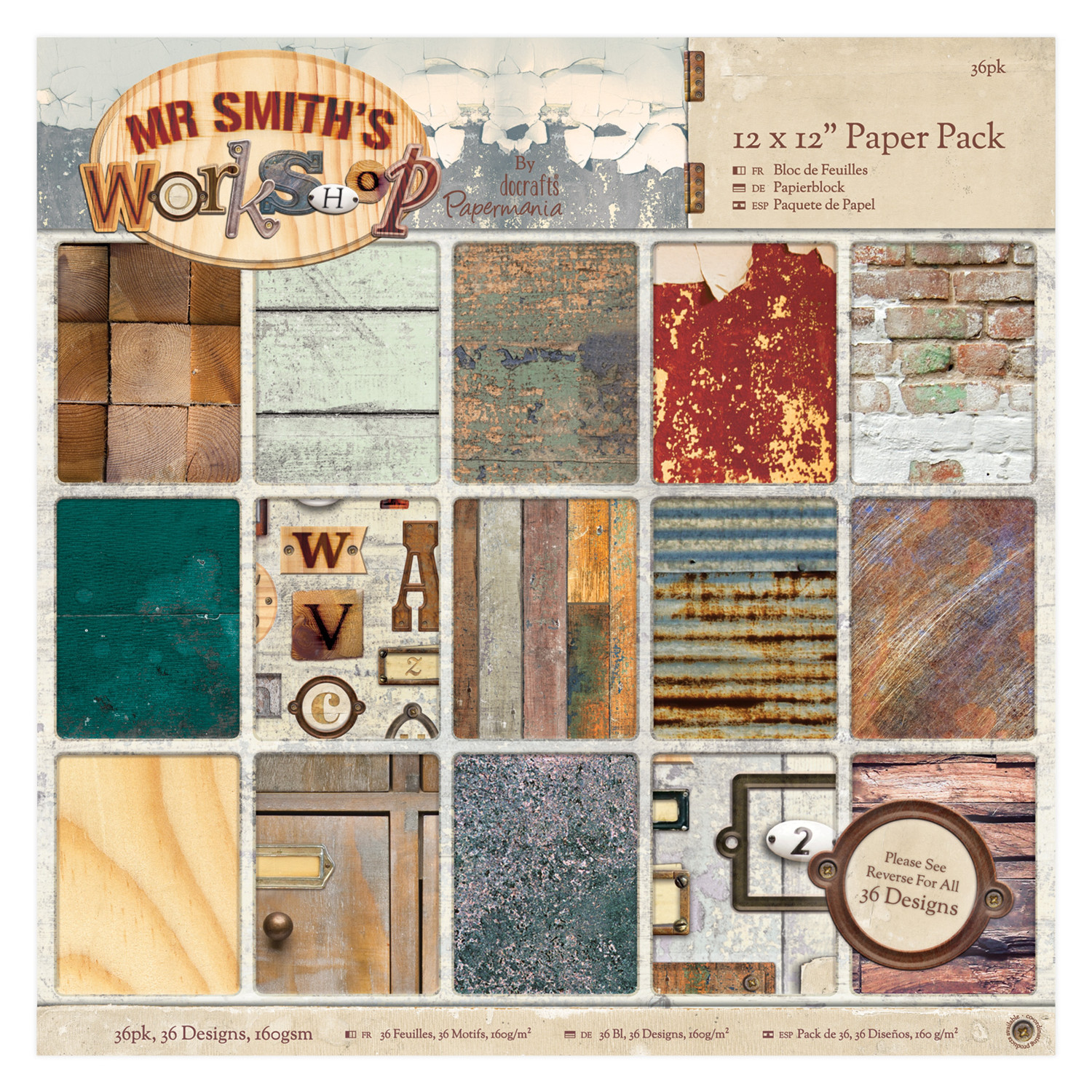 Mr Smith's Workshop, Gorjuss, Capsule Geometric Kraft, Creativity Essentials Stamps &  Cut and Emboss Folders