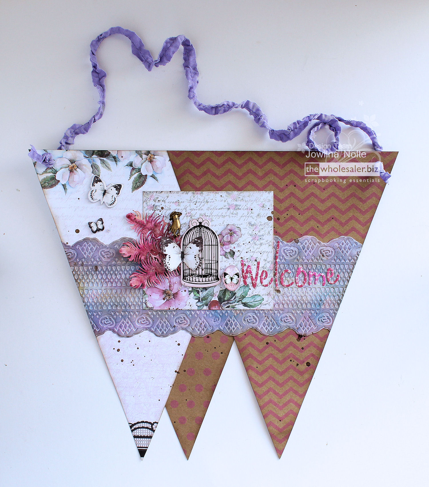 GoCut and Emboss - Project - Welcome Bunting