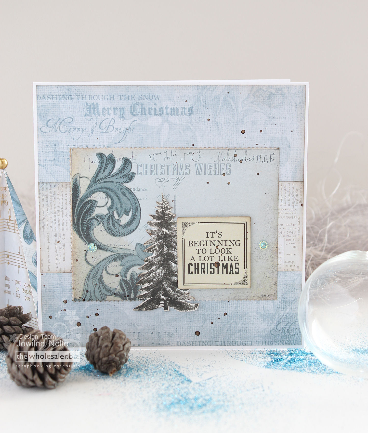 Festive Greeting Cards - Frosted Blue
