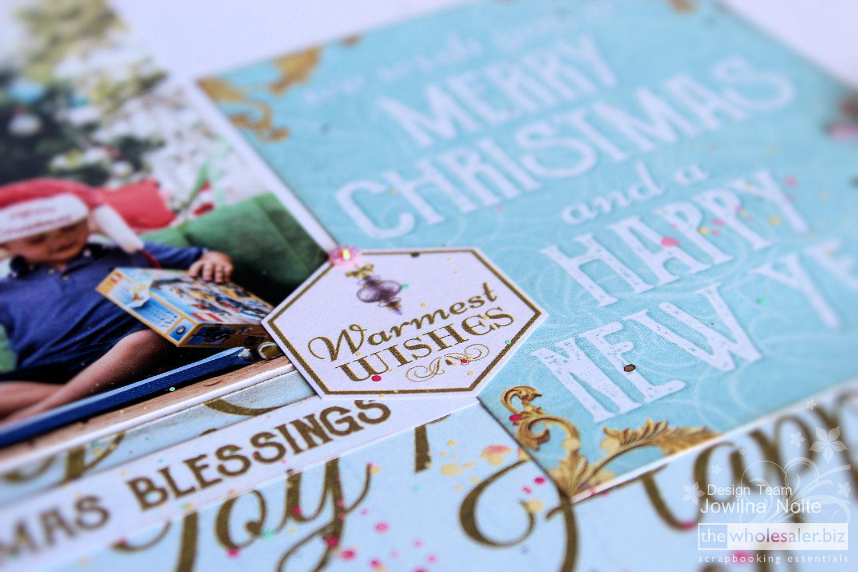 Festive Layout Warmest Wishes