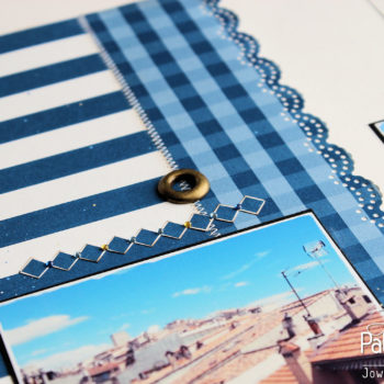 Lady Pattern Paper - Dazzling Blue - Gingham
